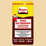 ТМ Момент - клеющая смесь для приклеивания и армирования пенополистирольных плит, пенопласта